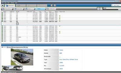 ①車両の年とモデルを選択し、データベースからデータシートをダウンロード