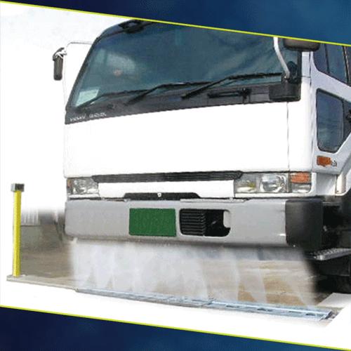 大型車用固定式下部洗浄システム/CW-D70
