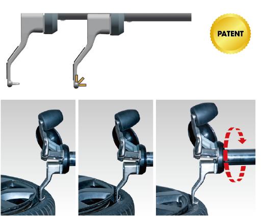 ロータリーヘッド(スプリング式タイヤフック・作業位置3点自動変動)