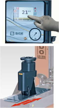 油圧可動式センターロック軸
